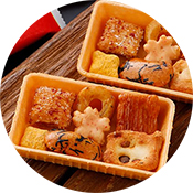 京の彩り七種類詰合せ海老せんべいの器付き