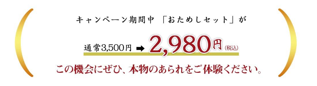 春の入会キャンペーン開催中 通常3500円が2980円