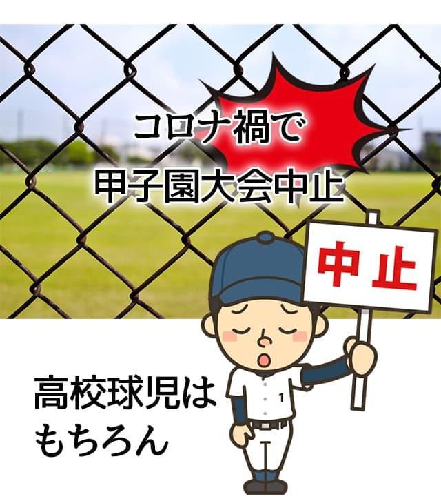 コロナ禍で春夏甲子園大会中止。高校球児がっくり