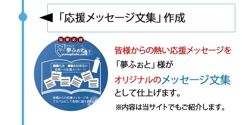 【Step2】応援メッセージ文集作成 「夢ふぉと」様がオリジナルのメッセージ文集として仕上げます