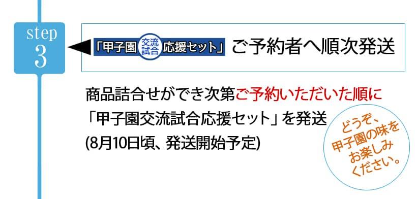 【Step3】甲子園交流試合応援セットをご予約者へ順次発送8月10日ごろから発送開始予定