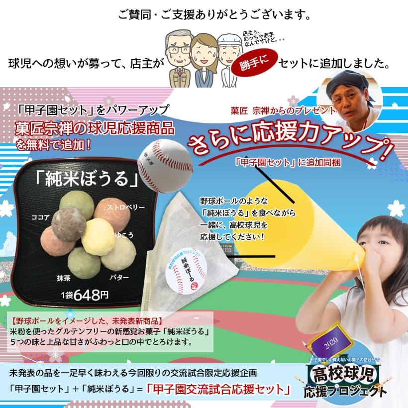 【予約ご購入でもれなくプレゼント。菓匠宗禅未発表新商品「純米ぼうる」